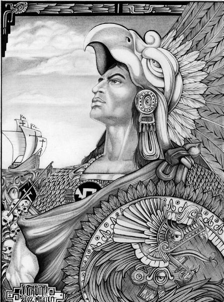 Aztec Warrior - Original by salxtai.deviantart.com on @deviantART