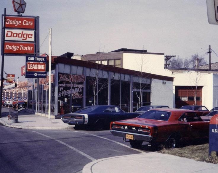 70's Dodge dealer, looks like Grand Spauling Dodge, Chicago, Ill