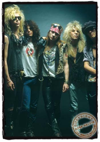 Guns N Roses, the original 5: Duff, Slash, Axl, Steven & Izzy   circa late 1980s
