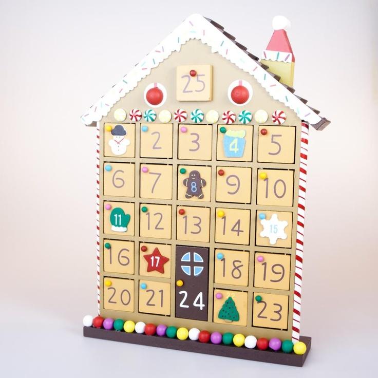 Wooden Advent Calendar Craft Xmas Pinterest Advent