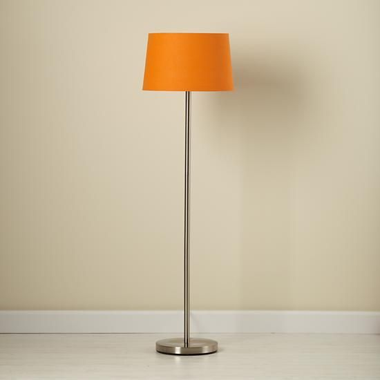 The Land of Nod | Kids' Floor Lamps: Kids Floor Lamp Base with Fabric Shade in All Lighting