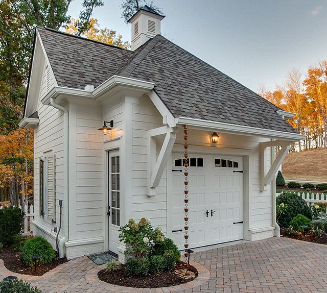 Best 25 detached garage ideas on pinterest carriage for Southern living detached garage plans