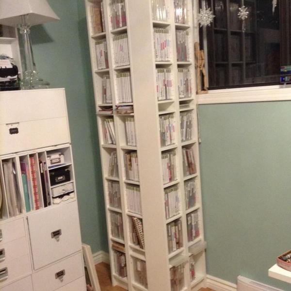 These are 4 Billy bookcase DVD holders placed around a bump out in my  studio wall - Best 25+ Dvd Bookcase Ideas On Pinterest Dvd Storage, Movie