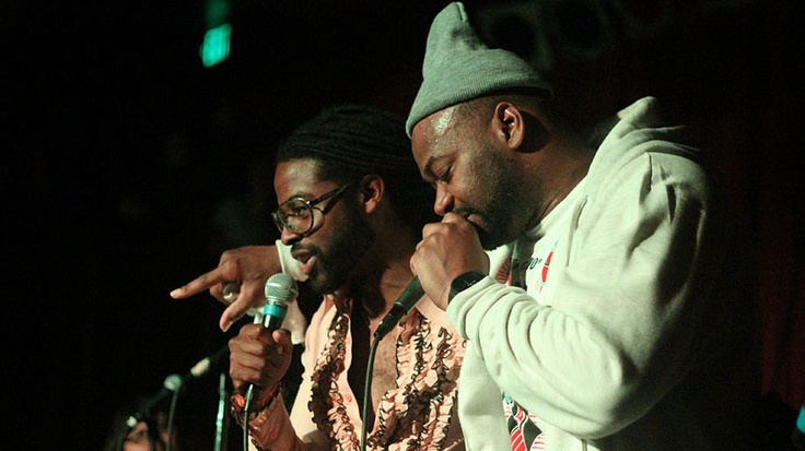 The Ghostface Killah Rises Again - Adrian Younge (left) and Ghostface onstage at the Seattle stop of their tour last week.