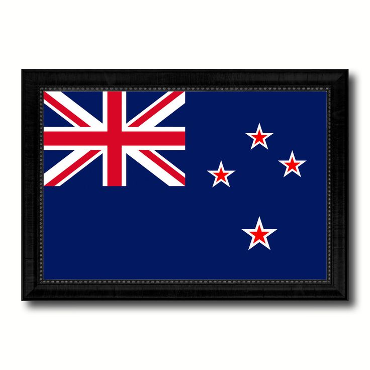 New Zealand Country Flag Canvas Print, Picture Frame Home Decor Gifts Wall