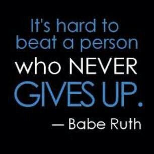 http://www.drhaleyperlus.com Sports Psychology Quote Never give up...