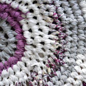tapis rond fait main crochet (2)
