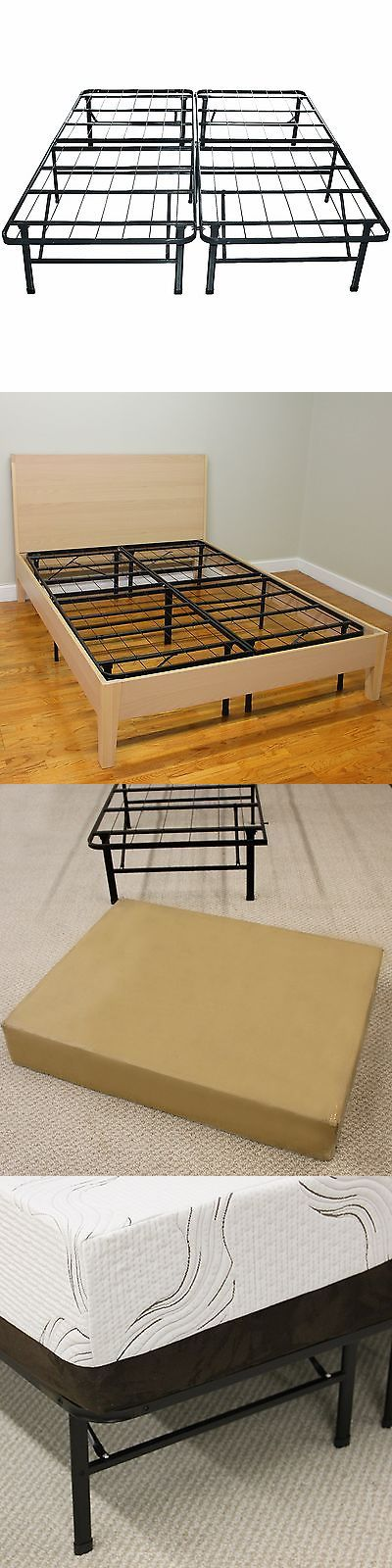 Beds and Bed Frames 175758: Heavy Duty Metal Bed Frame Mattress Foundation, King Size Free Shipping, New -> BUY IT NOW ONLY: $109.99 on eBay!