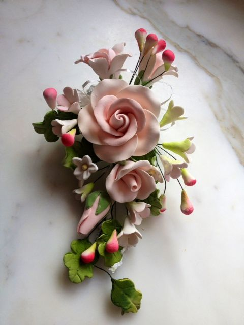 Royal icing flowers for Raspberry Rum Trifle. item # MRN,PK from ABC Cakes, 2853 E Indian School Rd, Phoenix, AZ 85016 (602) 224-9796