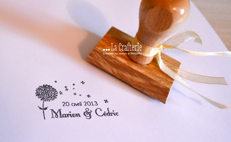 Custom wedding stamp | La Crafterie