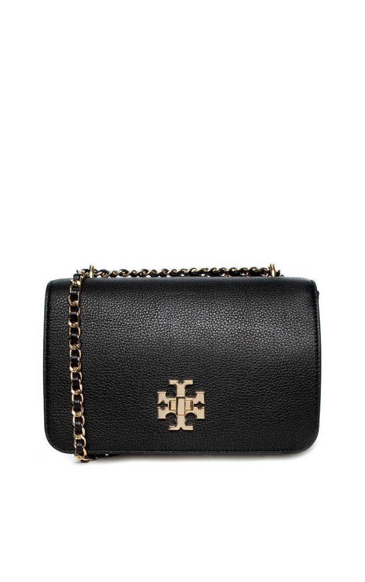 Axelremsväska Mercer Adjustable Shoulder Bag BLACK/GOLD - Tory Burch - Designers - Raglady