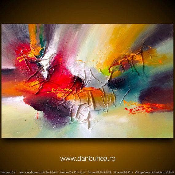 Very large abstract painting by Dan Bunea Paradise by danbunea, $1000.00