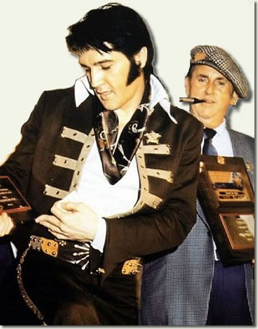 Elvis Presley and his manager Thomas Parker in... - ELVISANDJERRYLEWISLOVER