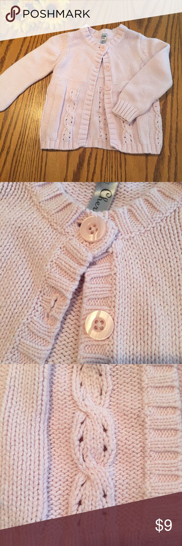 Cherokee pink cardigan sweater. Size 3t Cherokee pink cardigan sweater. Size 3t Cherokee Shirts & Tops Sweaters