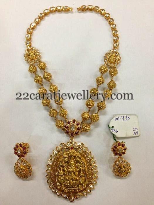 Jewellery Designs: Lakshmi Necklace 102 Grams