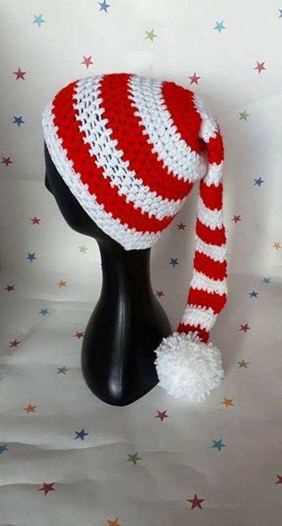 1500f609d Crochet Elf Hat Christmas Elf Hat Christmas Hat Photo Prop Pixie Hat ...