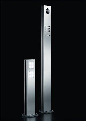 sss siedle steel free standing pedestal and led pedestal. Black Bedroom Furniture Sets. Home Design Ideas