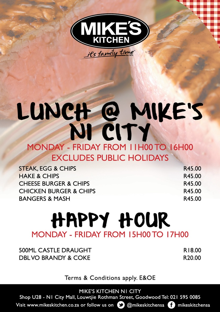 Mikes Kitchen N1 City Lunch Special