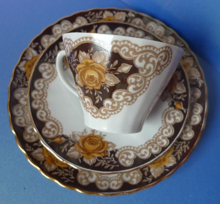 Antique Old Vintage Latvia Studio Pottery Cup Saucer Plate porcelain marked Riga