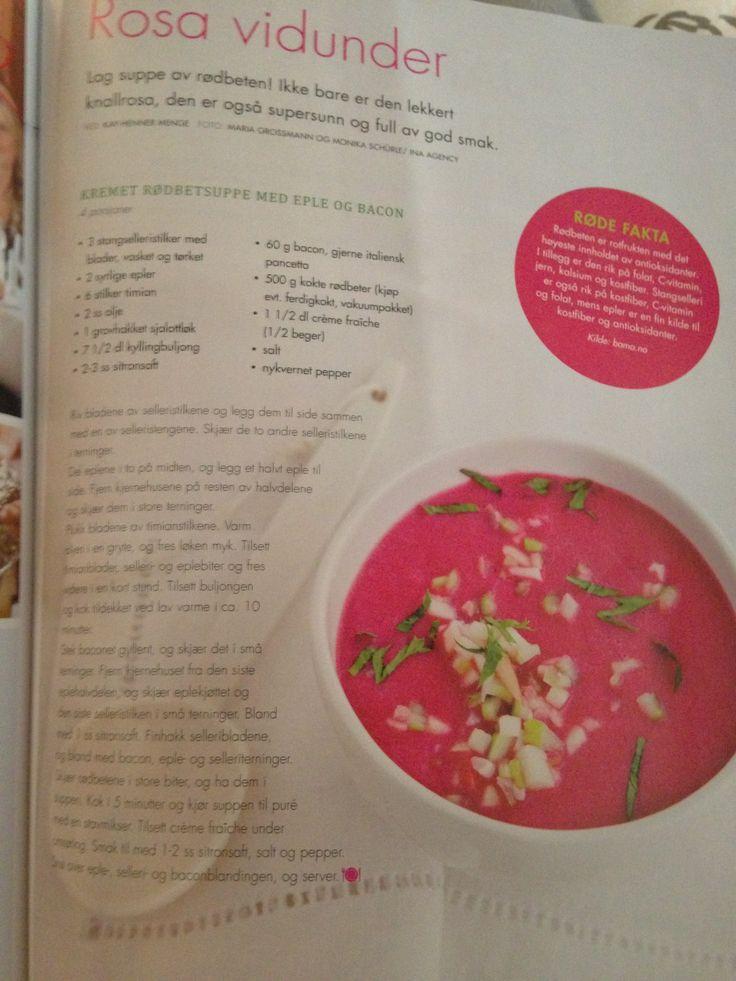 Rødbetsuppe - Mat og Vin 2012