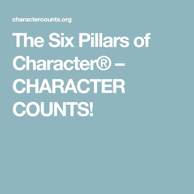 best pillars of character ideas pillars of  the six pillars of character® character counts