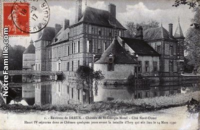 Château de St-Georges | Dreux, Normandy, France. French country home of Col & Mme Jacques Balsan (Consuelo Vanderbilt)