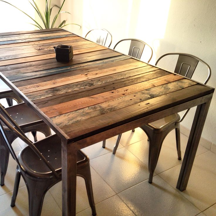 My palet table with chairs