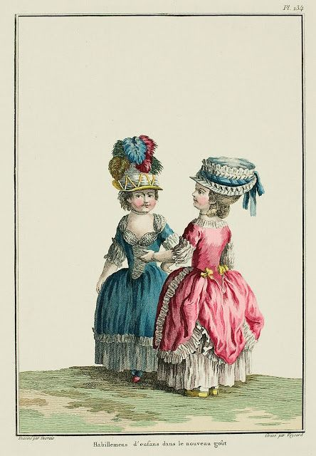Galerie des Modes, 30e Cahier, 5e Figure Children's dress in the new taste. (1780)