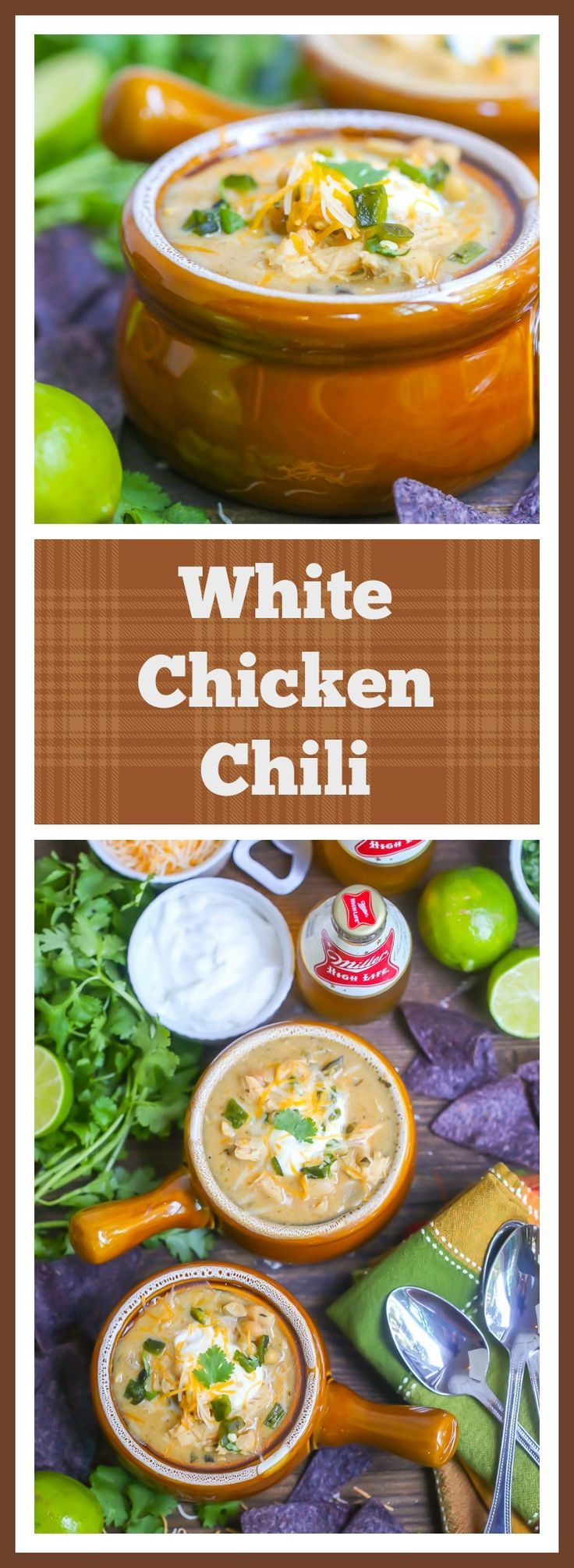 Creamy, tangy and with just the right amount of heat, this white chicken chili will become your tailgating staple.