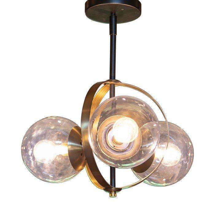 Decor Therapy Griggs Ch1862 Globe Semi Flush Mount Light