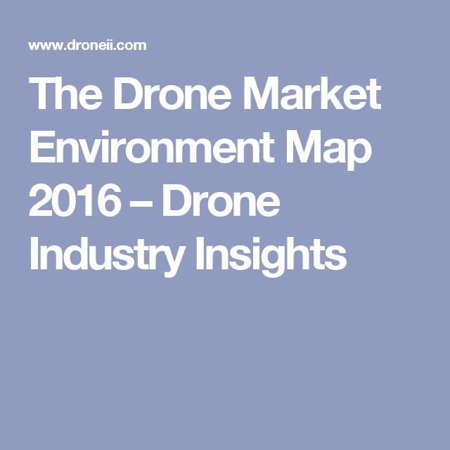 The Drone Market Environment Map 2016 – Drone Industry Insights