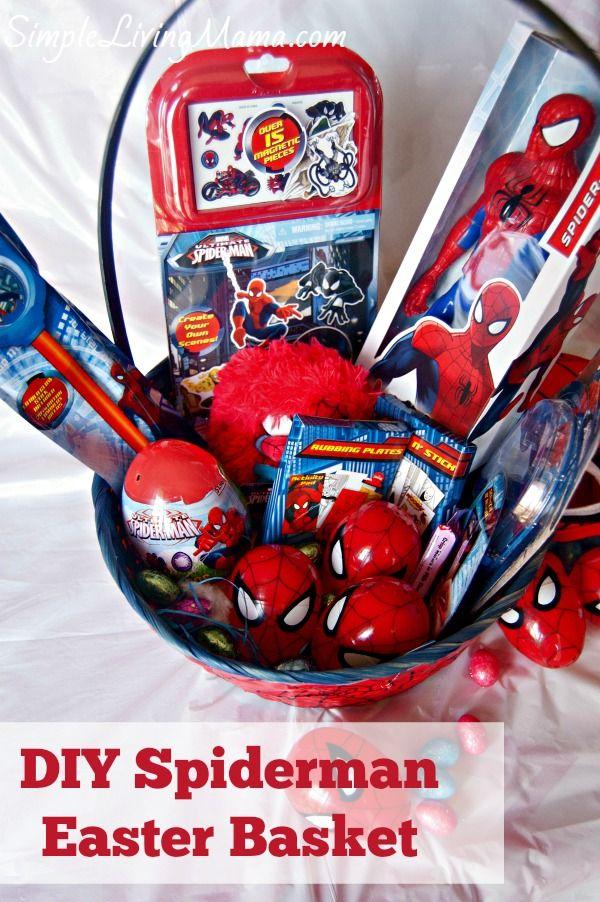 Best 25 boys easter basket ideas on pinterest easter baskets diy spiderman easter basket simple living mama disneyeaster ad negle Images
