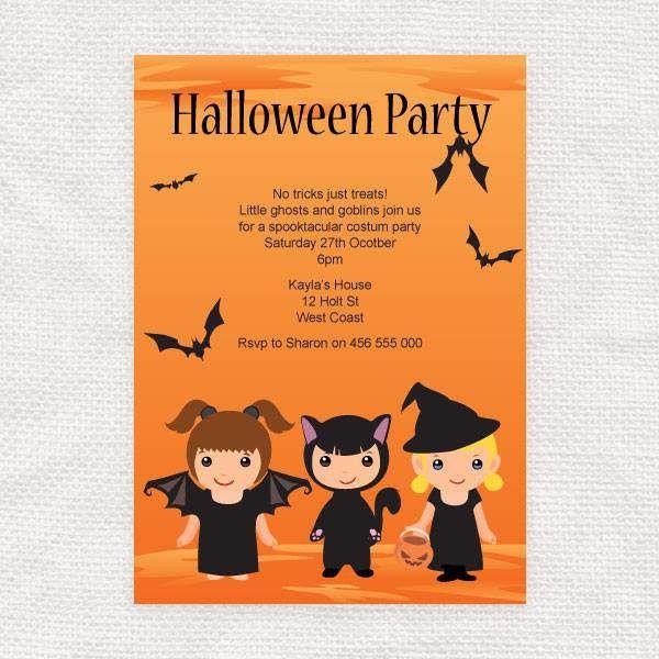 printable halloween invitations free - Halloween Birthday Invitations Printable