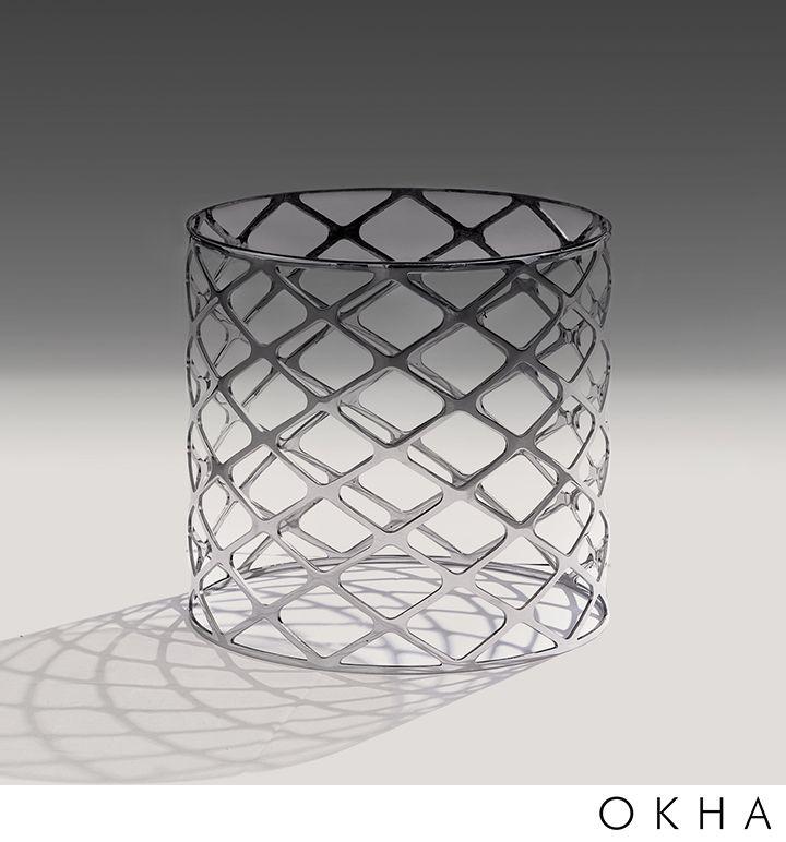 Mesh Side Table – Small   OKHA Interiors