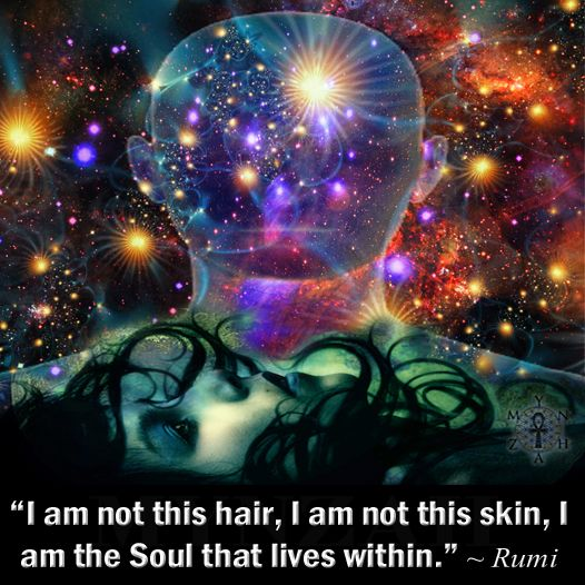 """""""I am not this hair, I am not this skin, I am the Soul that lives within."""" ~ Rumi"""