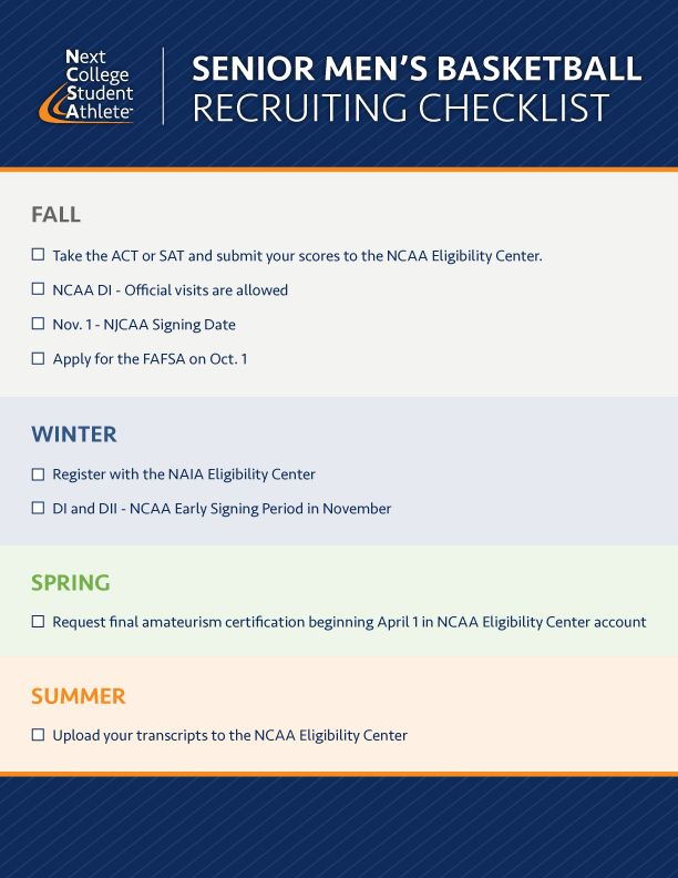 NCSA #Junior #Sports #RecruitingChecklist Recruiting Checklists - new sample letter from high school athlete to college coach