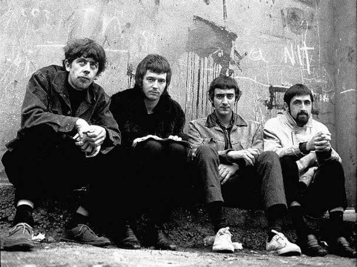 9-John Mayall's Bluesbreakers 1966 vl. n. r. John Mayall, Eric Clapton, John McVie, Hughie Flint