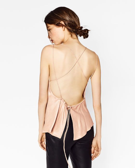 Image 6 of LACE TOP WITH LOW-CUT BACK from Zara