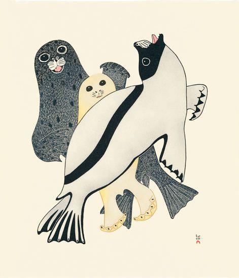 Arctic Seals, by Kananginak Pootoogook