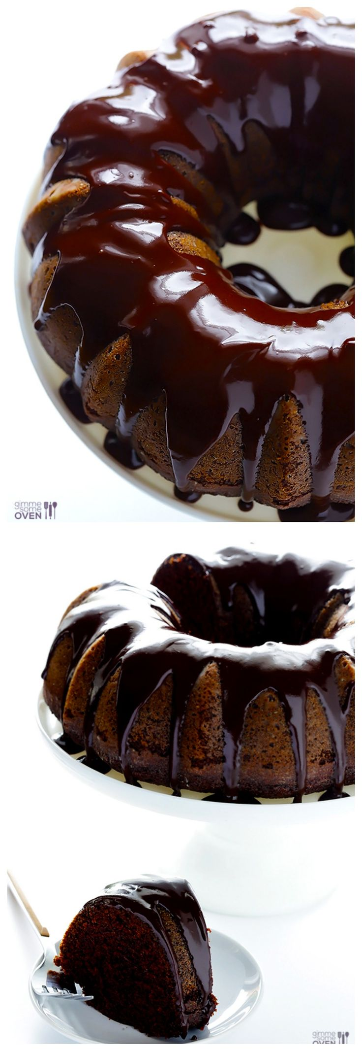 Greek Yogurt Chocolate Cake -- topped with a delicious chocolate glaze, and basically, AMAZING. | gimmesomeoven.com #dessert