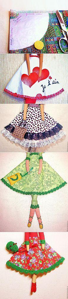 МК Юбка для куклы: одна выкройка – десять юбок! - Ярмарка Мастеров - ручная работа, handmade