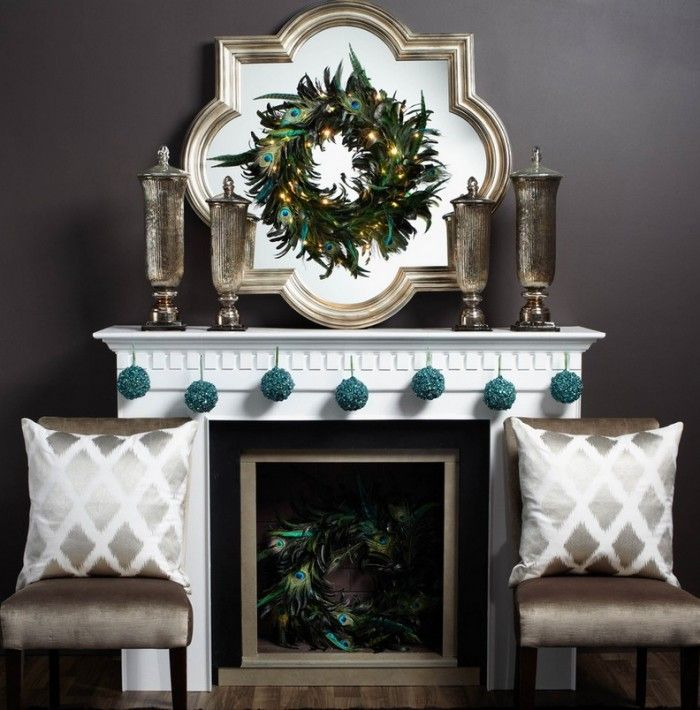 formal christmas mantel decor