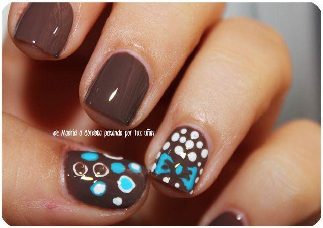 30 fotos de u as decoradas con color marr n brown nails for Decoracion de unas cafes