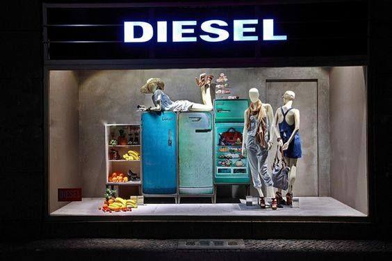 diesel window display