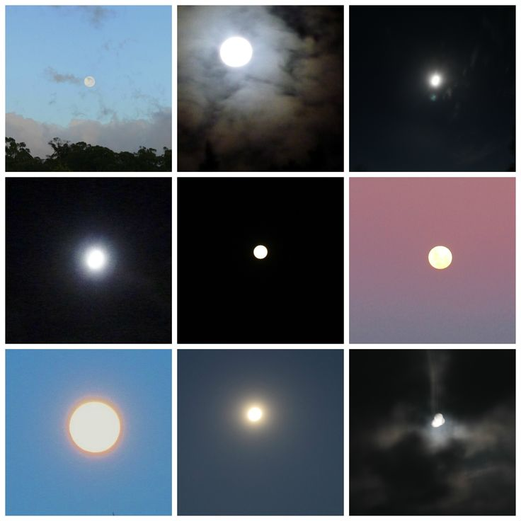 Nine full moons from 2013
