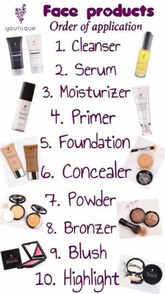 Face Product Order Of Application Facemakeup Face Makeup Order Contour Makeup Makeup Order Makeup Goals