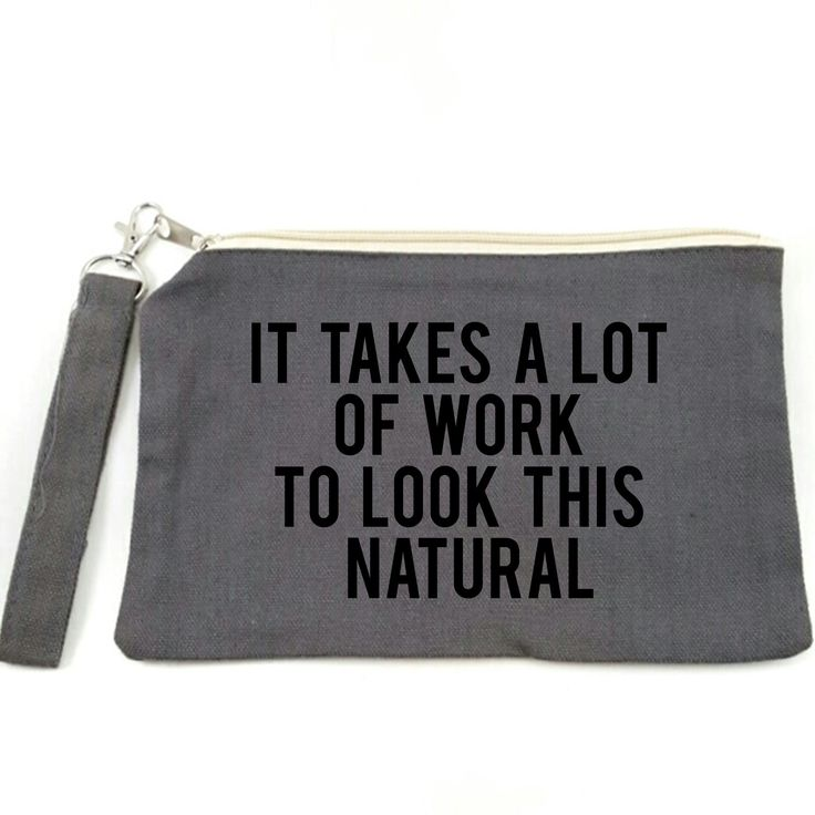 Small Canvas Makeup Bag, Zippered Pouch, Travel Bag, Funny Gift Idea, Funny Makeup Bag. This is a funny little zippered pouch, perfect to put your makeup necessities into, and throw into your purse or