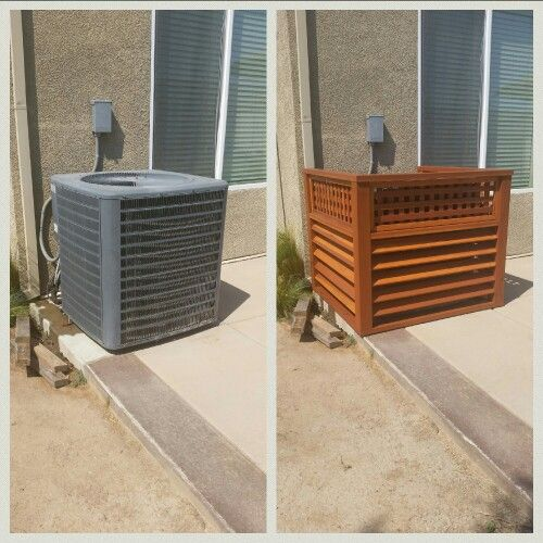 25 best ideas about ac unit cover on pinterest pool - Air conditioner cover ideas ...