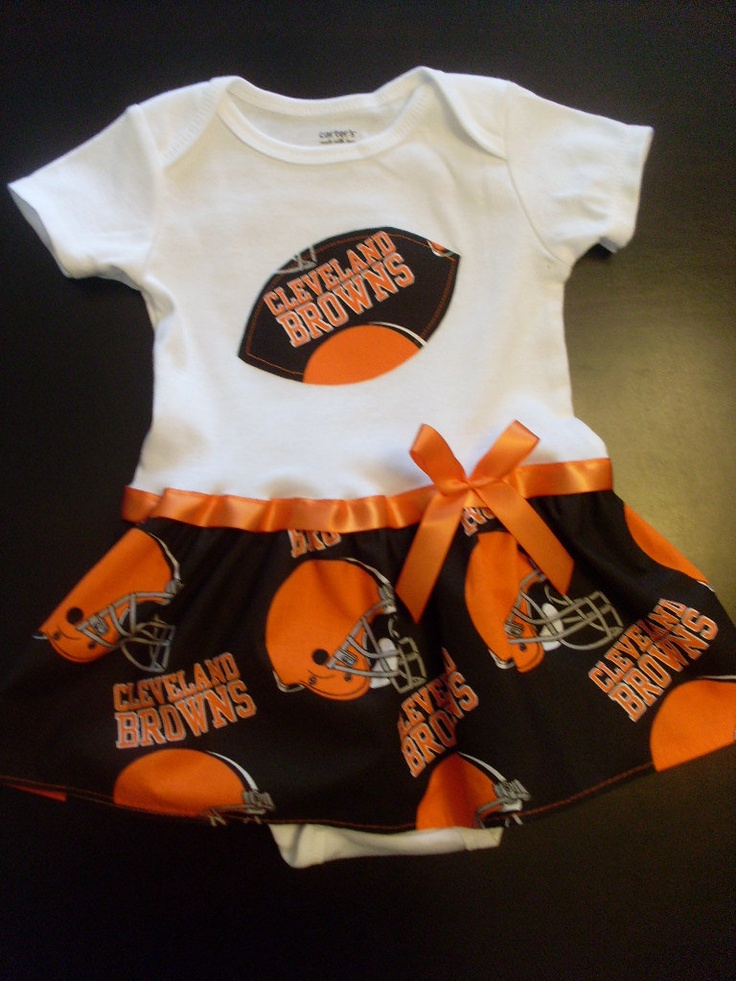 0a35cf11f Cleveland Browns Onesie Dress. 24.99, via Etsy.