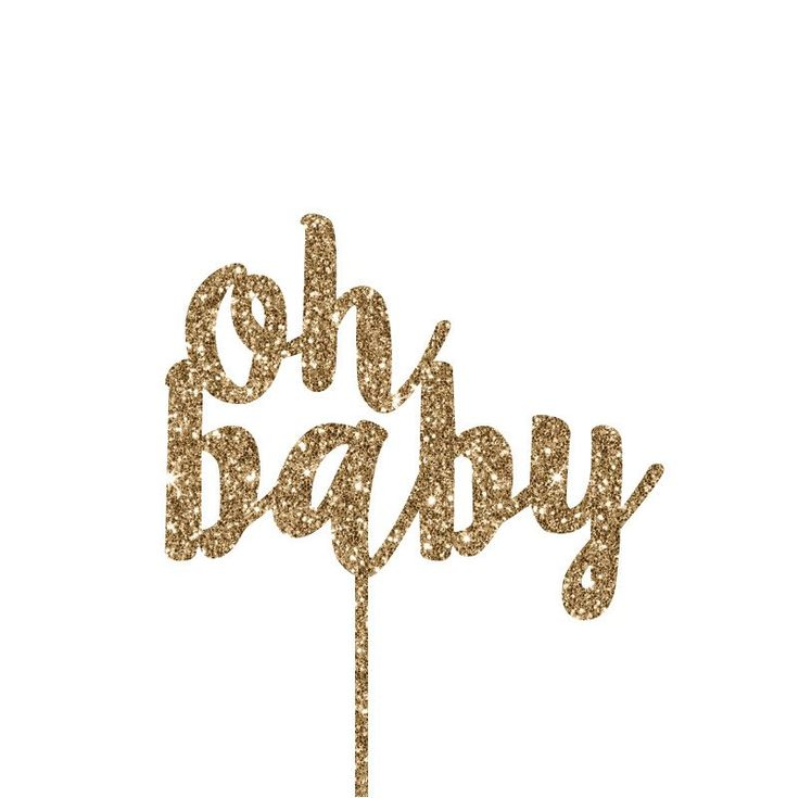 Oh Baby Cake Toppers – Lucky Lulu Party Shop